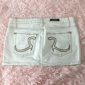 Rock & Republic White Denim Miniskirt
